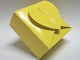 PC-1 Caixa Coração Lisa Amarela, Medidas: 6.5 X 6.5 X 3 cm