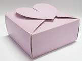PC-1 Caixa Coração Lisa Lilas, Medidas: 6.5 X 6.5 X 3 cm