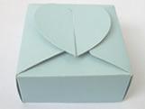 PC-1 Caixa Coração Lisa Azul Claro, Medidas: 6.5 X 6.5 X 3 cm