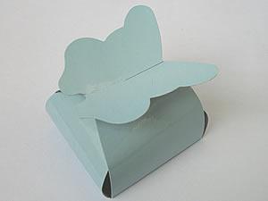PB-1 Caixa Borboleta Lisa Azul Claro