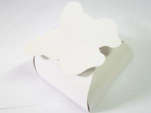 PB-1 Caixa Borboleta Lisa Branca