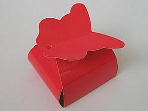 PB-1 Caixa Borboleta Lisa Vermelha
