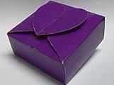 PC-1 Caixa Coração Lisa Roxa, Medidas: 6.5 X 6.5 X 3 cm