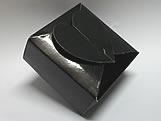 PC-1 Caixa Coração Lisa Preta, Medidas: 6.5 X 6.5 X 3 cm