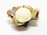 Forminha de Crepom J-16 Lisa Ouro, Medidas: 1.5 x 1.5 cm