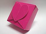 PC-1 Caixa Coração Lisa Pink, Medidas: 6.5 X 6.5 X 3 cm