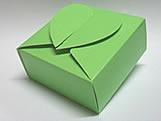 PC-1 Caixa Coração Lisa Verde Claro, Medidas: 6.5 X 6.5 X 3 cm