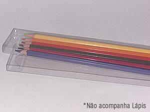 PXLapis-1 PX-207 Caixa para 06 Lápis de Cor Sextavado Ø7mm e Pente