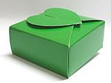 PC-1 Caixa Coração Lisa Verde Escuro, Medidas: 6.5 X 6.5 X 3 cm