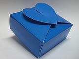PC-1 Caixa Coração Lisa Azul Escuro, Medidas: 6.5 X 6.5 X 3 cm