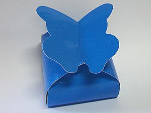 PB-1 Caixa Borboleta Lisa Azul Escuro