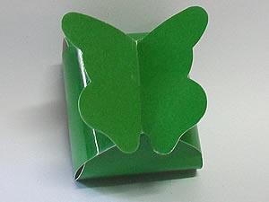 PB-1 Caixa Borboleta Lisa Verde Escuro