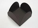 Caixeta Dobravel Papel Lisa Marrom, Medidas: 3.5 X 3.5 X 2.5 cm