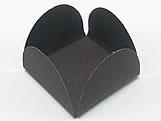 Caixeta Dobravel Papel Lisa Preta, Medidas: 3.5 X 3.5 X 2.5 cm