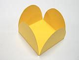 Caixeta Dobravel Papel Lisa Amarela, Medidas: 3.5 X 3.5 X 2.5 cm