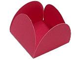 Caixeta Dobravel Papel Lisa Vermelha, Medidas: 3.5 X 3.5 X 2.5 cm