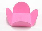 Caixeta Dobravel Papel Lisa Rosa, Medidas: 3.5 X 3.5 X 2.5 cm