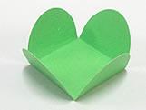 Caixeta Dobravel Papel Lisa Verde Claro, Medidas: 3.5 X 3.5 X 2.5 cm