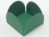 Caixeta Dobravel Papel Lisa Verde Escuro