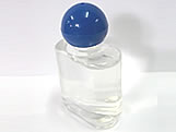 Frasco Oval Chato 35ml com Tampa Bola Azul Marinho, Medidas: 4 X 2 X 7 cm