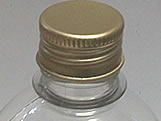 Frasco 500ml com tampa Ouro Aluminio