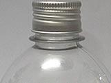 Frasco 500ml com tampa Prata Aluminio