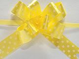 Laço Pequeno Amarelo Poá, Medidas: 12 x 250 mm cm