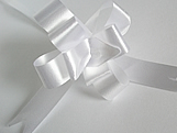 Laço Médio Branco Liso