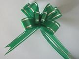 Laço Pequeno Verde Escuro Borda Prata