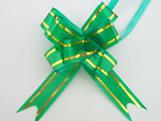 Laço Pequeno Verde Escuro Borda Ouro