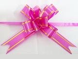 Laço Pequeno Pink Borda Ouro