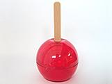 Maçã do Amor Vermelha (Tradicional), Medidas: 6 X 6 X 11 cm