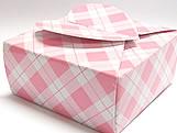 PC-1 Caixa Coração Xadrez Rosa, Medidas: 6.5 X 6.5 X 3 cm