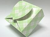 PC-1 Caixa Coração Xadrez Verde Claro, Medidas: 6.5 X 6.5 X 3 cm