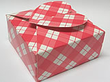 PC-1 Caixa Coração Xadrez Vermelha, Medidas: 6.5 X 6.5 X 3 cm