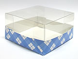 PMB-13 Xadrez Azul Escuro, Medidas: 7.5 X 7.5 X 4 cm