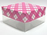 PMB-13 Xadrez Pink, Medidas: 7.5 X 7.5 X 4 cm