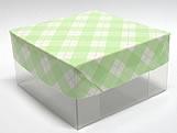 PMB-13 Xadrez Verde Claro, Medidas: 7.5 X 7.5 X 4 cm