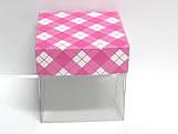 PMB-4 Xadrez Pink, Medidas: 5 X 5 X 5 cm