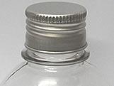 Frasco 250ml com tampa Prata Aluminio, Medidas: 6.5 X 6.5 X 12 cm