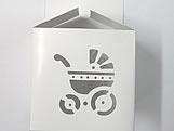 DV-10  Carrinho de Bebê vazado, Medidas: 8.5 X 8.5 X 8 cm