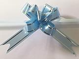 Laço Pequeno Azul Claro Borda Prata