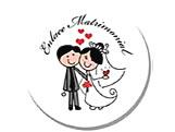 Adesivo Casamento Enlace Matrimonial, Medidas: � 5 - Di�metro de 5cm cm