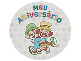 Adesivo Aniversário Palhacinho Ref-01AC