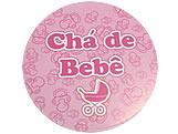 Adesivo Ch� de Beb� Rosa Ref-33AC, Medidas: � 5.2 cm cm