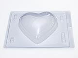 Forma com Silicone Coração 500g Ref.46 BWB, Medidas: 24 x 18.5 x 7.5 cm
