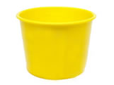 Balde Amarelo 1,5L, Medidas: 16 x 12,5 x 12 cm