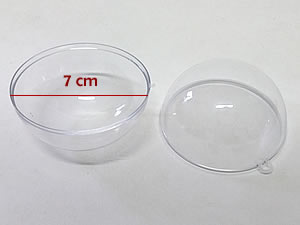 Caixa Bola Cristal 7cm
