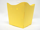 Cachepo Liso Amarelo, Medidas: 9 X 7 X 9.5 cm