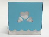 Caixa 3 Corações Azul Turqueza / Tiffany, Medidas: 7.5 X 7.5 X 7.5 cm